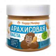 Арахисовая паста с кусочками и морской солью Happy Monkey